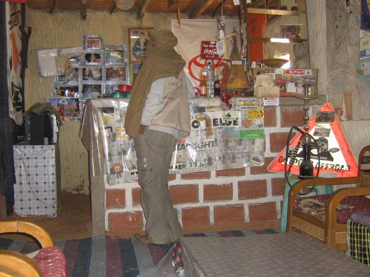 "Das Innere des ""Café Port du Desert"""