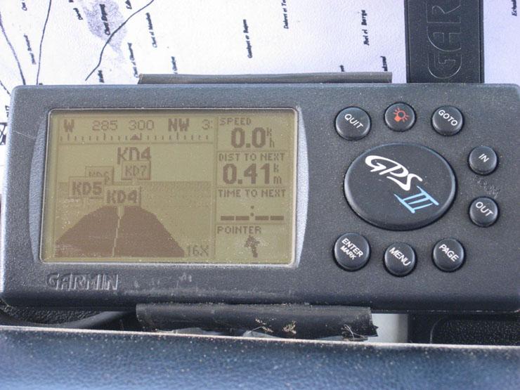 Das GPS weist den Weg