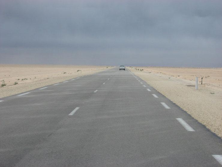 Straße zum Chott