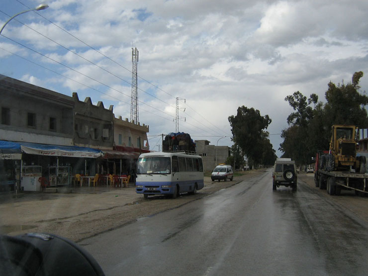 Auf dem Rückweg nach Tunis