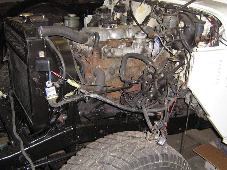 Kurz: Alles im und um den Motor wurde überprüft und, falls erforderlich, instand gesetzt.