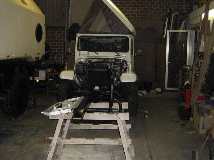 Beim Zusammenbau des Vorderwagens wurden nur Edelstahlschrauben verwendet die ich mit Kupferpaste eingesetzt habe.