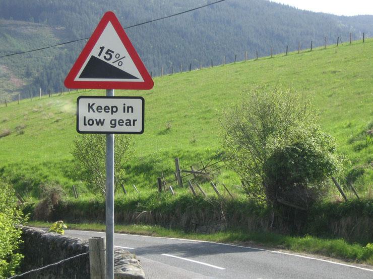 Achten Sie auf die Schilder!