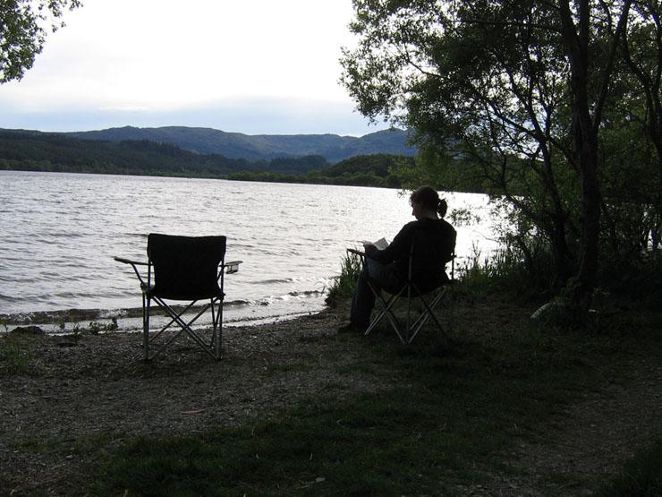 Tagesausklang am Ufer des