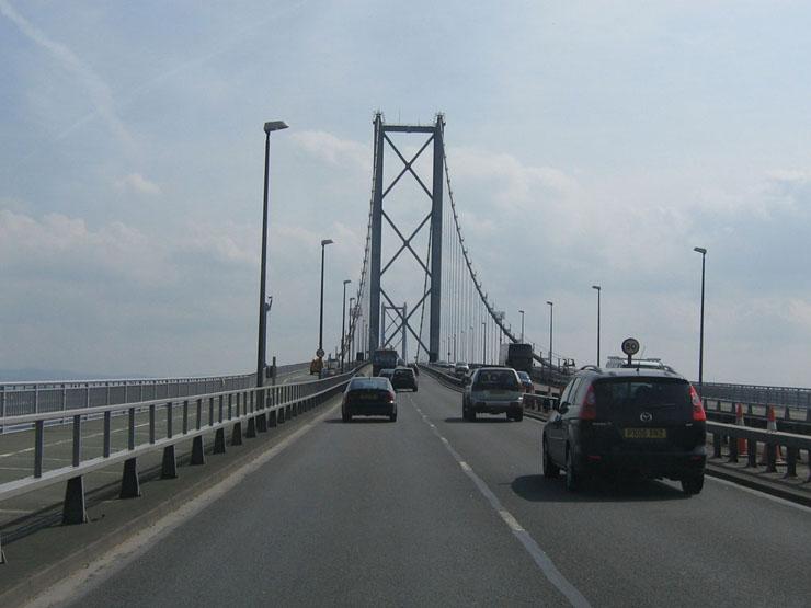 Auf der Brücke über den Forth