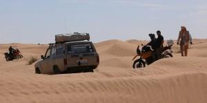 Unsere Gruppe unterwegs in den Dünen