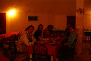 Abendessen im Restaurant des Campingplatzes